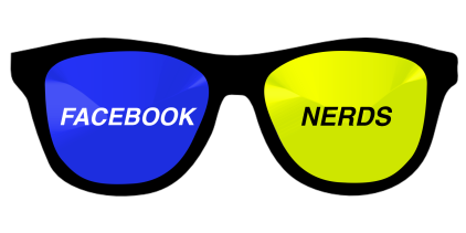 Facebook Nerd Logo by Morgan Whiz
